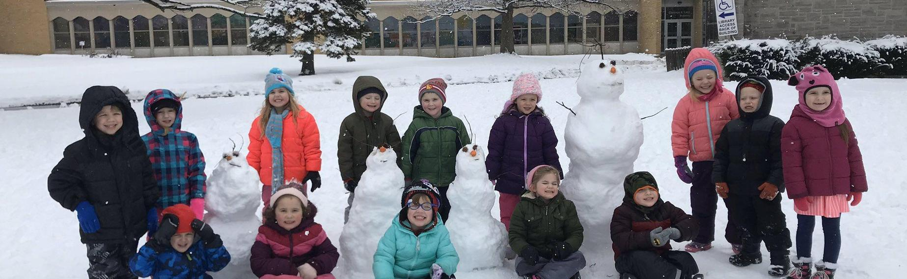 Pre-K fun in the snow