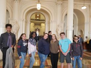 LJH students at the State Capitol
