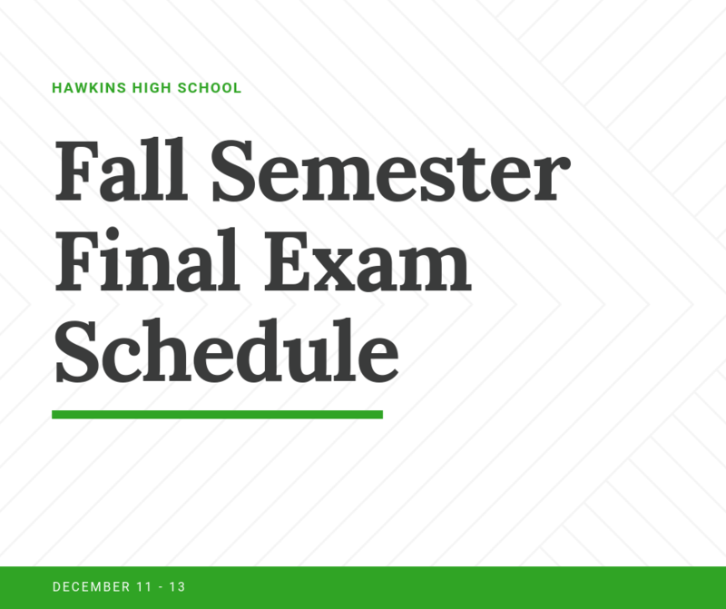 Fall Finals Schedule Featured Photo
