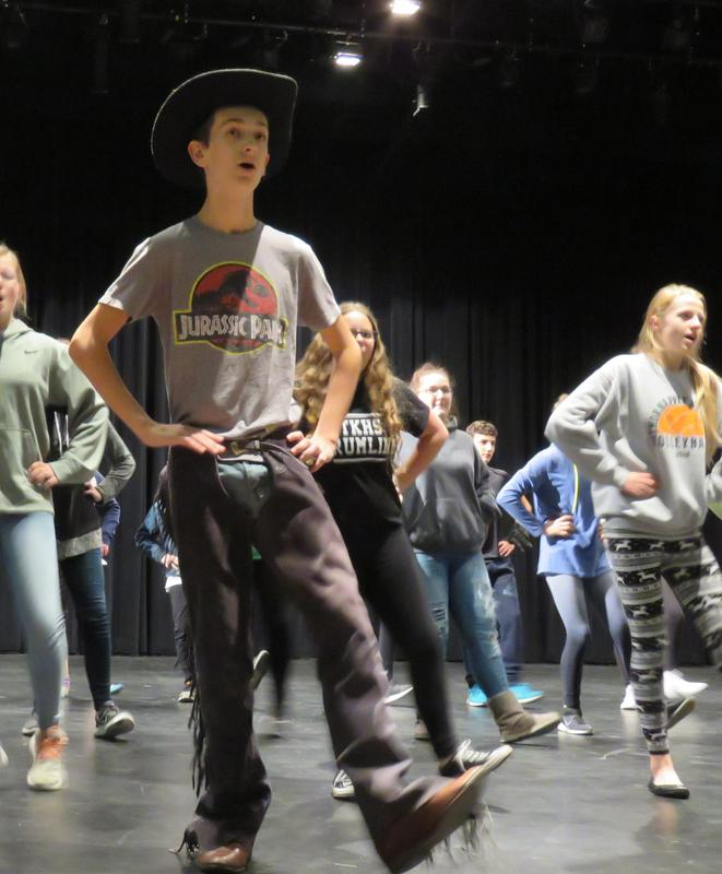 TKMS students rehearse for  the upcoming performances of