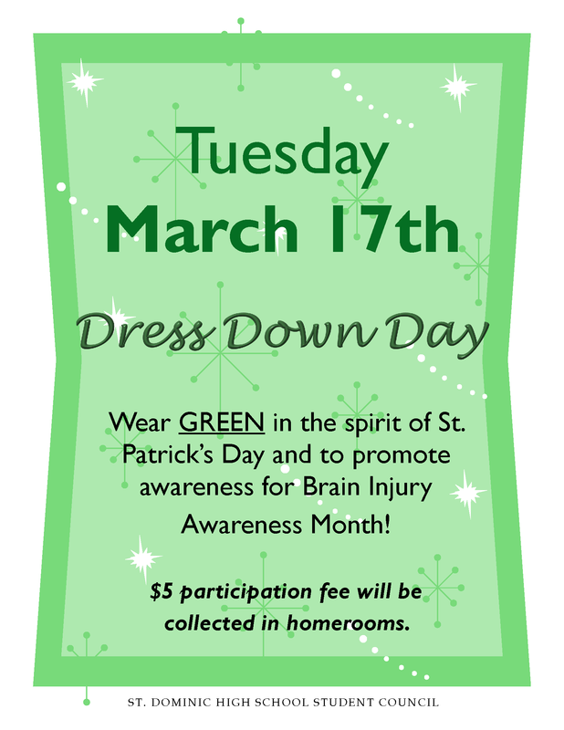 Dress Down Day - Tuesday, March 17th Featured Photo
