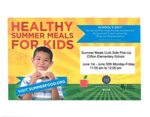 English Flyer for Summer Meals