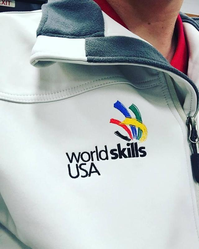 World Skills USA logo on jacket.