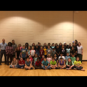 The 2018-2019 Elementary Peer Helpers and their school sponsors.