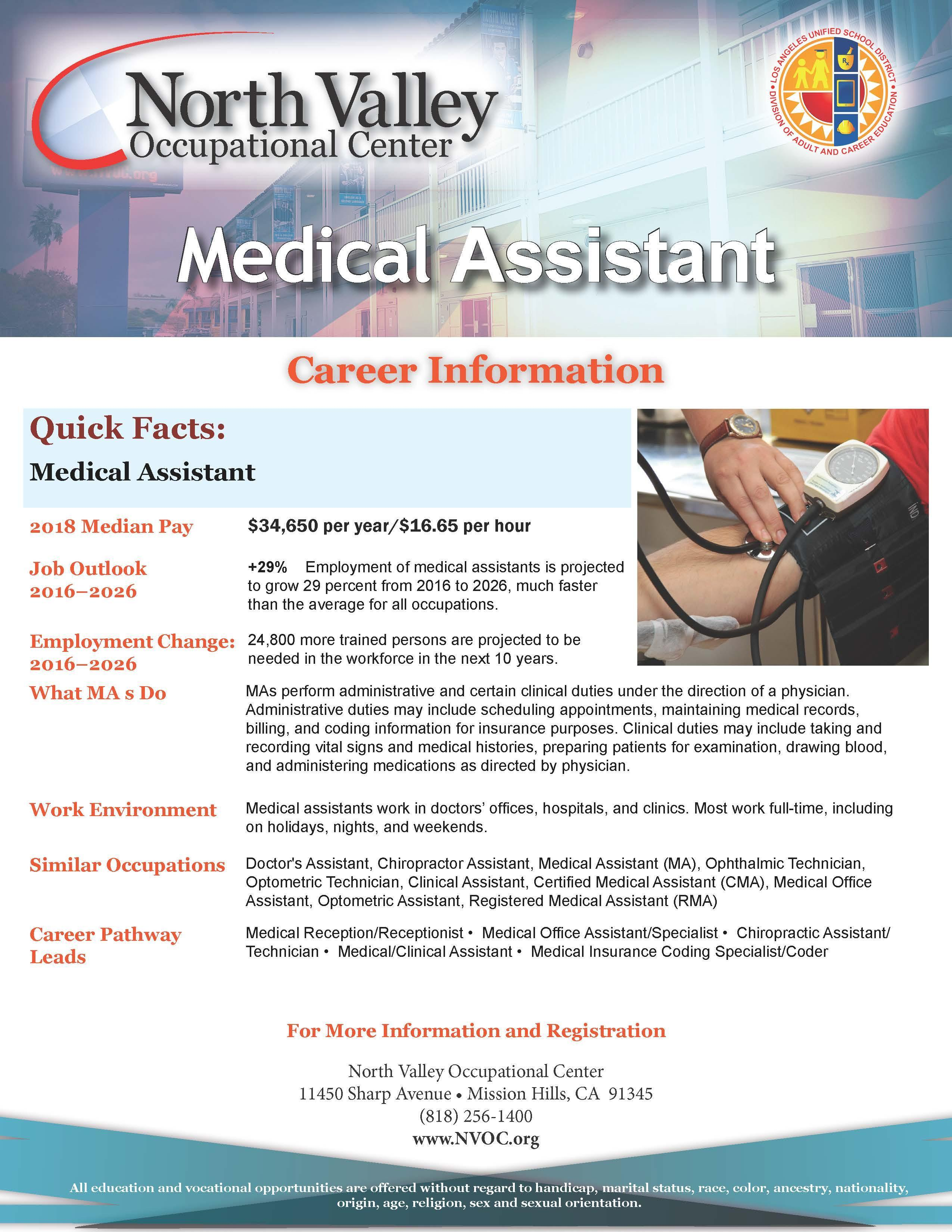 Medical Assistant – Health Careers – North Valley