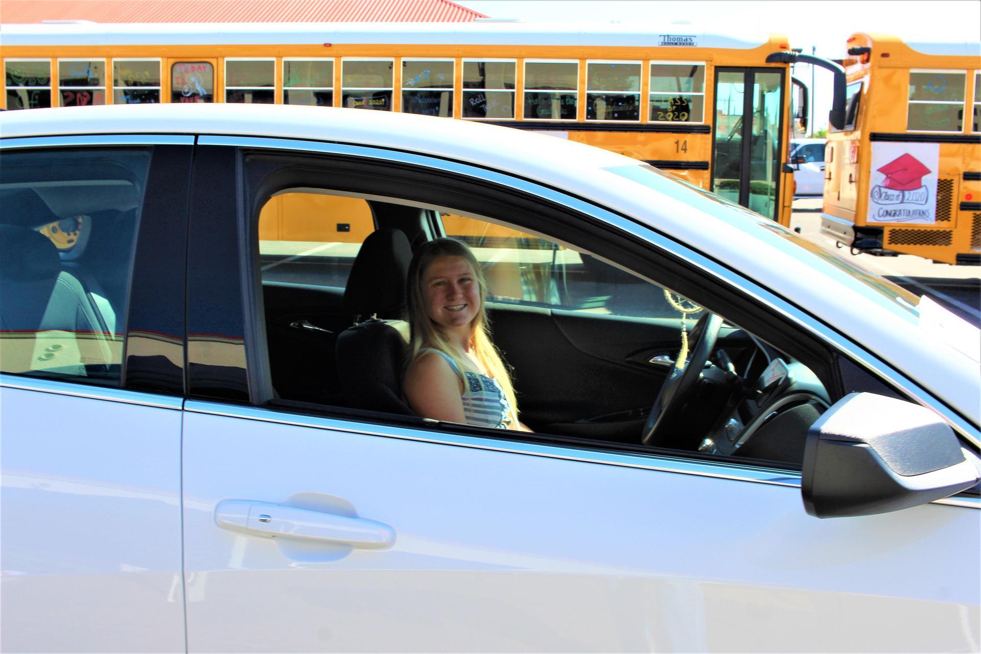 Kirsten Grissom driving through