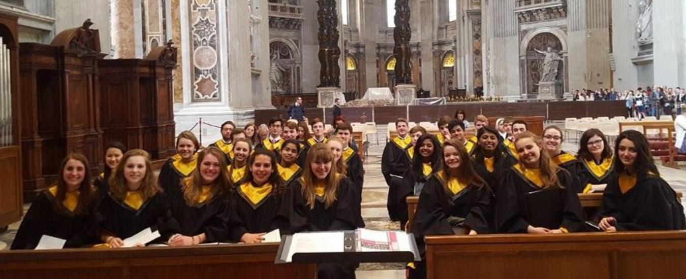 HVCHS Chamber Singers at Vatican