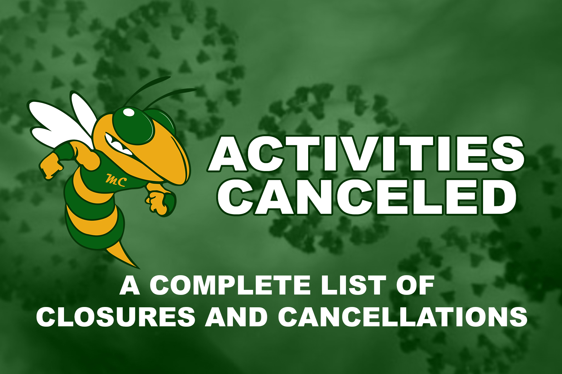 Activities Canceled
