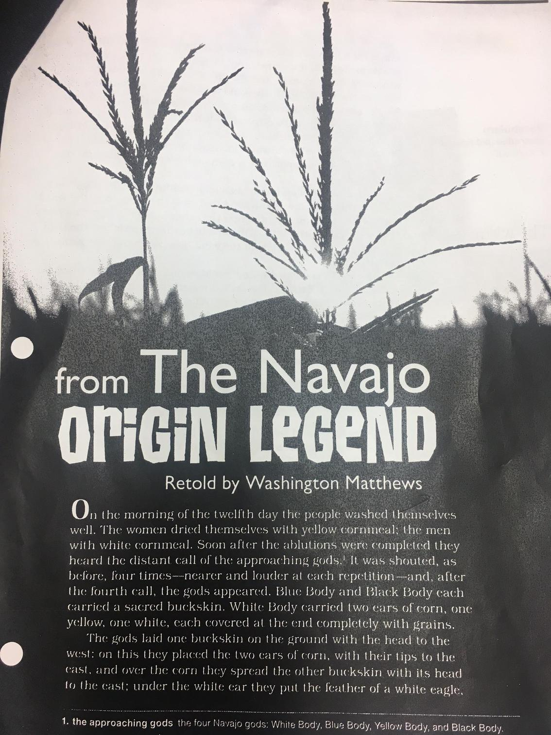 from the navajo origin legend The navajo origin legend i didnt like this story at all none of it made sense to me really you can follow any responses to this entry through the rss 20 feed you can leave a response, or trackback from your own site.