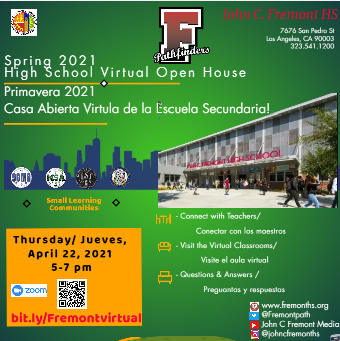 2021 Spring 'Virtual' Open House Featured Photo