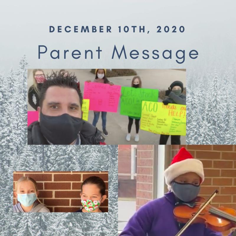 SCIS Parent Message: December 10th, 2020 Featured Photo