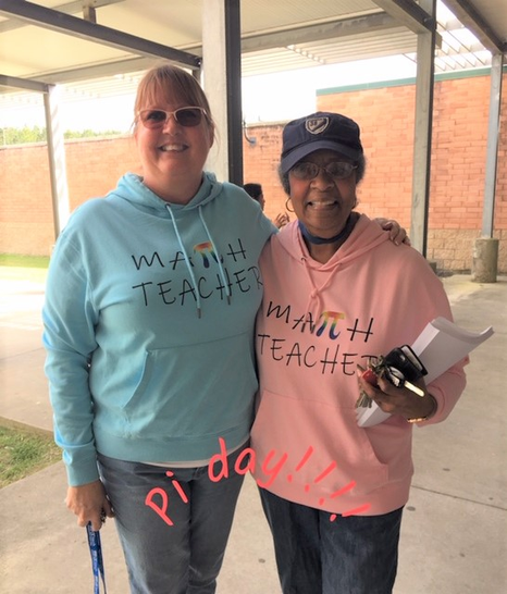 Ms. Neal and Ms. Gary on Pi Day