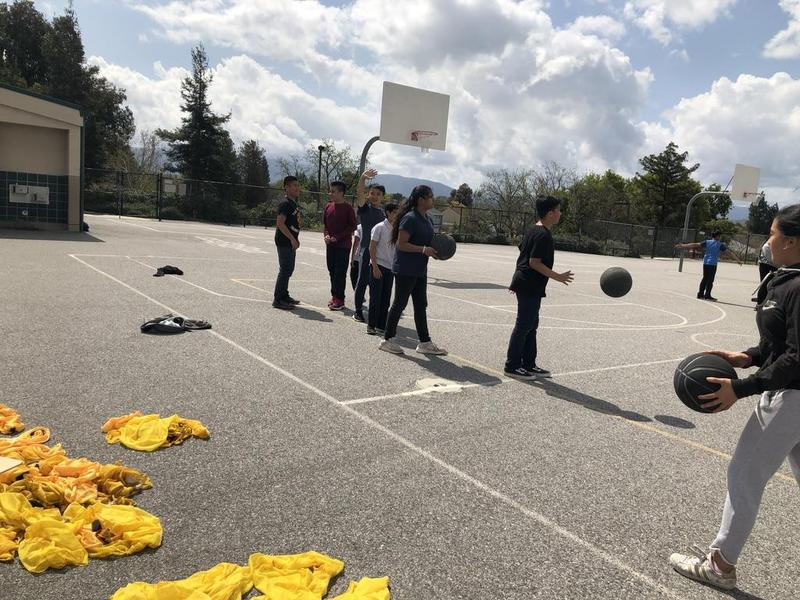 Basketball practice March 2019