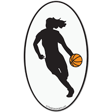 clip art of girl playing basketball