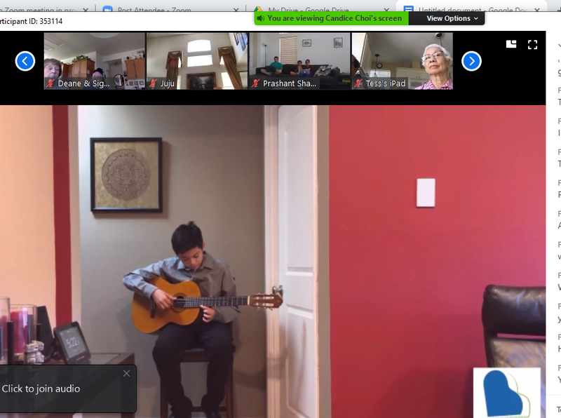 Several Hilldale students perform in online recital! Thumbnail Image