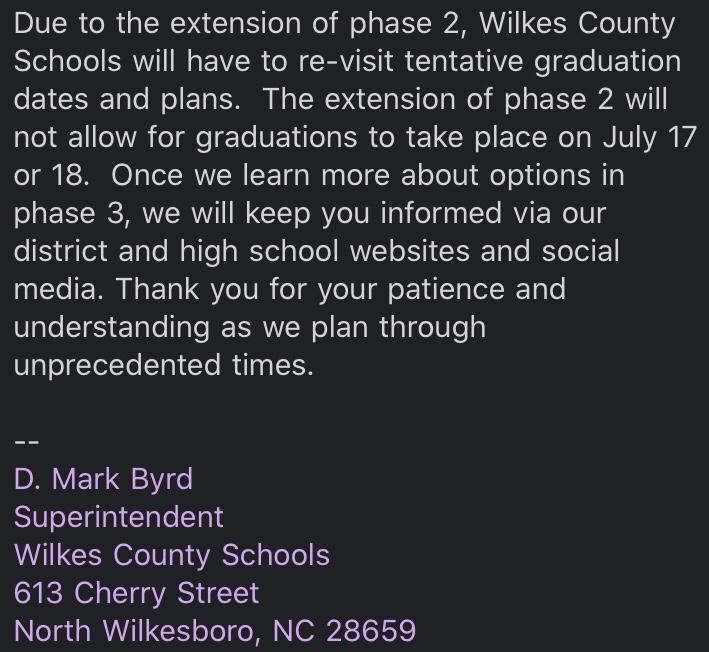 Graduation update from Mr. Byrd Thumbnail Image