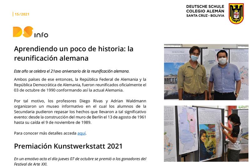 DS-info #15: Reunificación alemana y premiación de arte Featured Photo