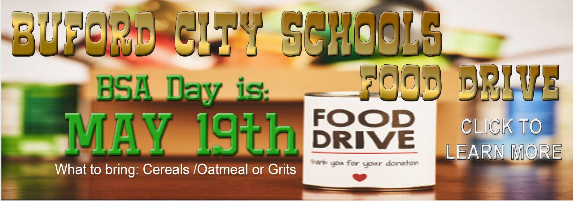 Food drive click to learn more