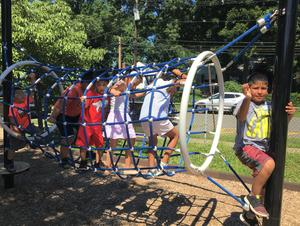 Westfield students enjoy some outdoor fun at ELL (English Language Learners) Summer Experience, a weeklong summer program providing meaningful enrichment activities for students to continue their English language acquisition.