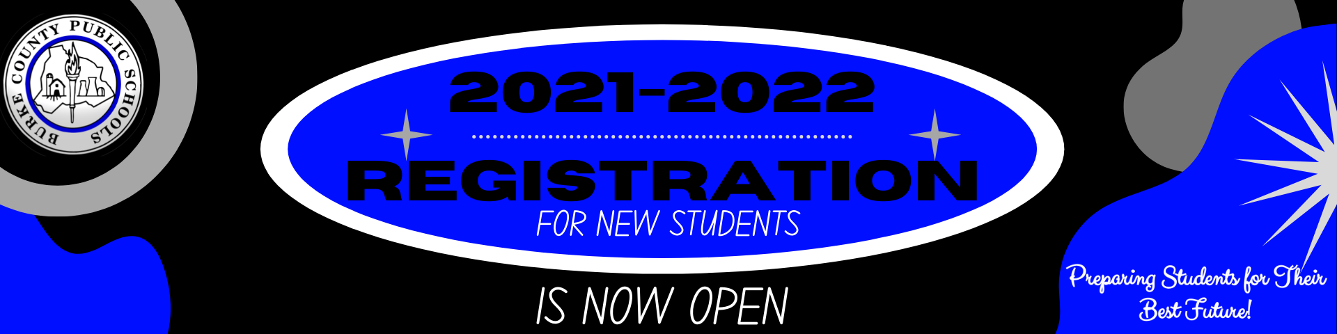 2021-2022 Registration for new students is now open!