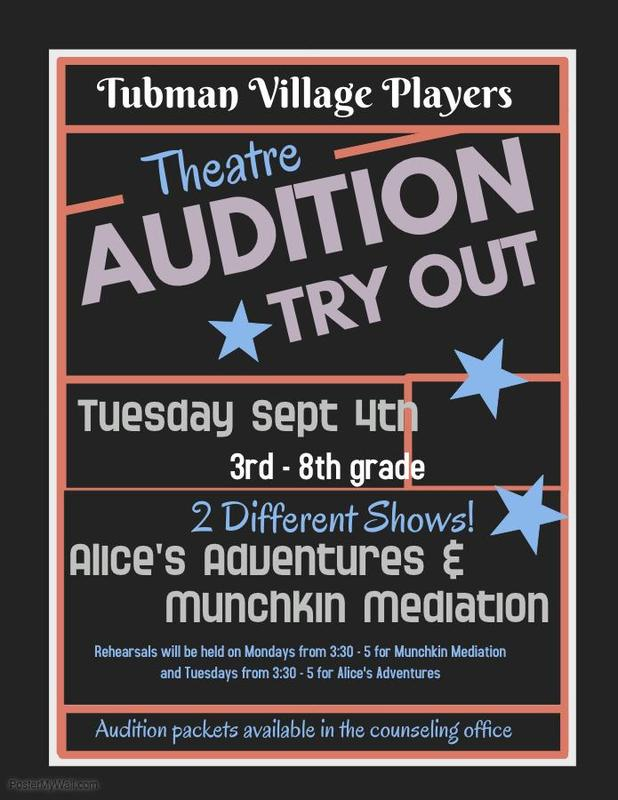 Theatre Auditions Sept. 4th! Featured Photo