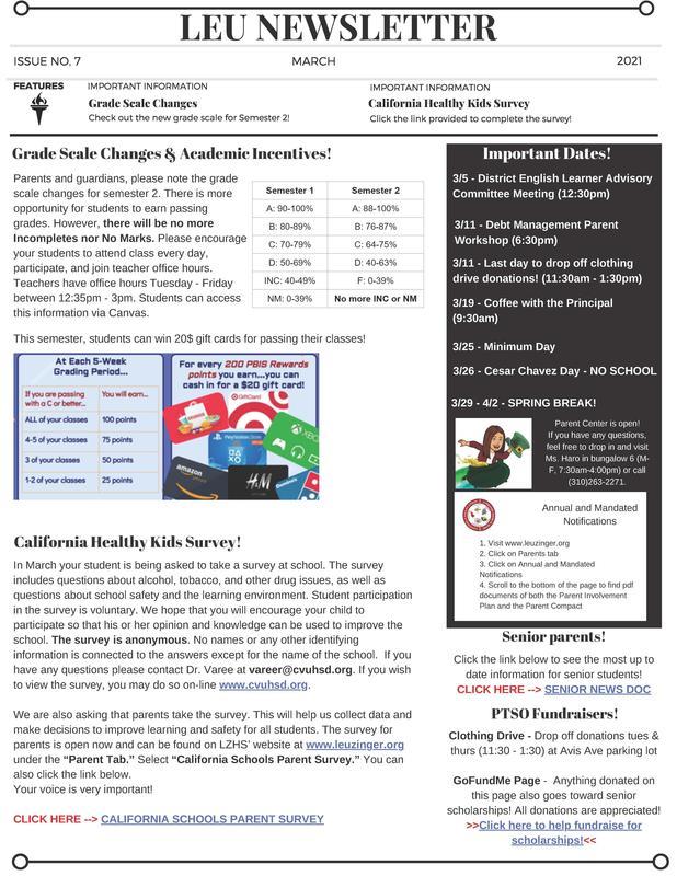 March Leu Newsletter
