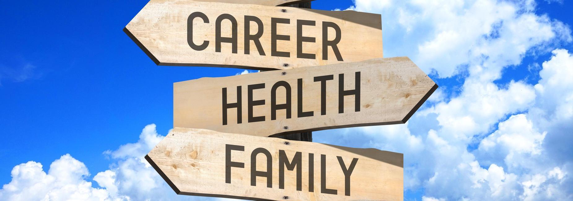 Arrows with career,health