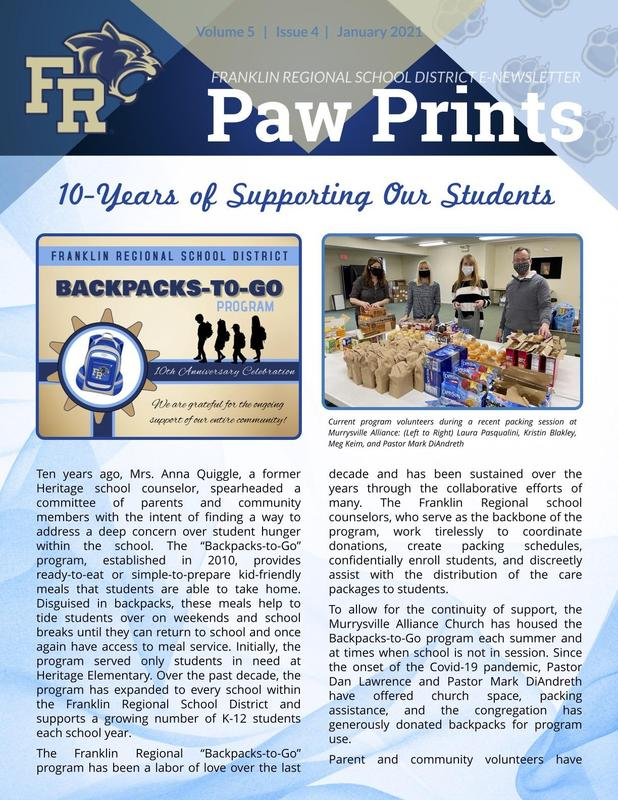 Paw Prints Jan. 2021