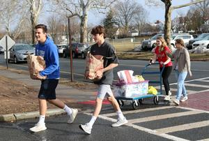 Photo of students participating in Community Service Week at Westfield High School.