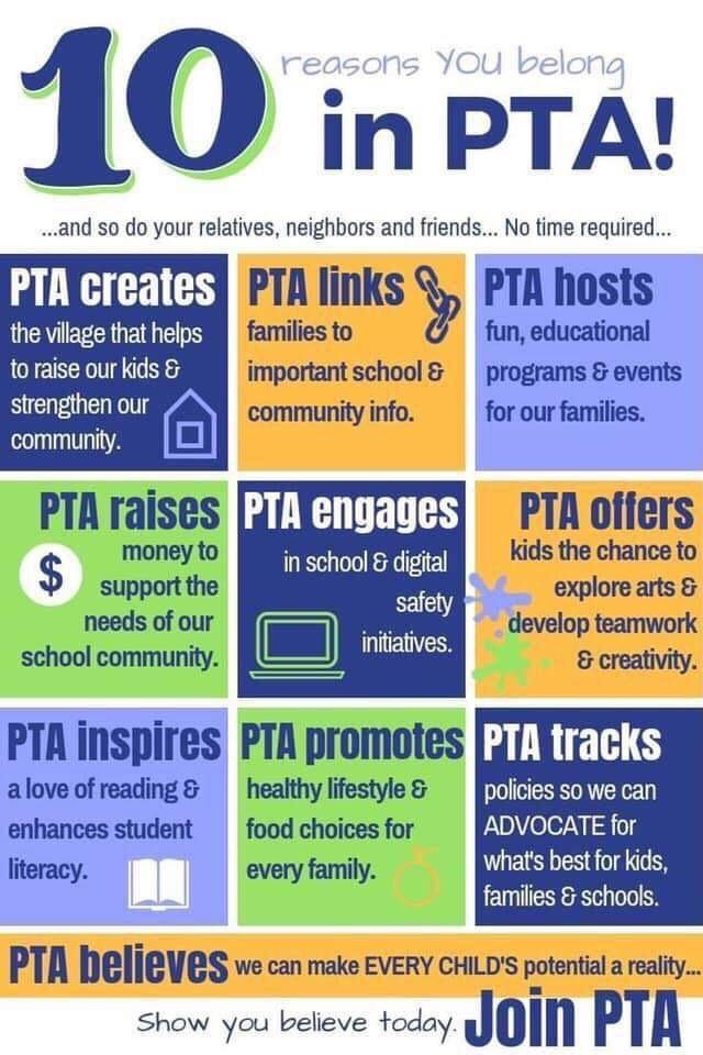 10 Reasons to Join PTA