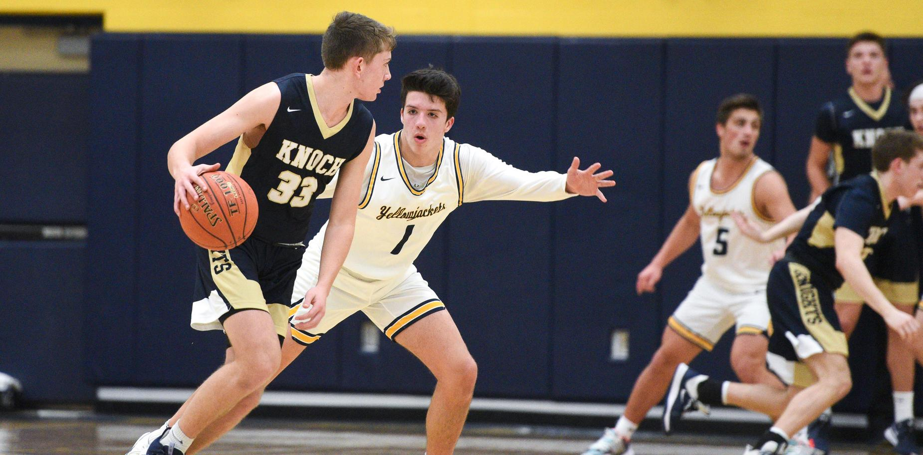 Knoch Boys' Basketball player in game