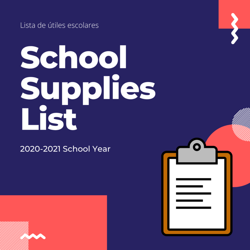 2020-2021 School Supply List Featured Photo