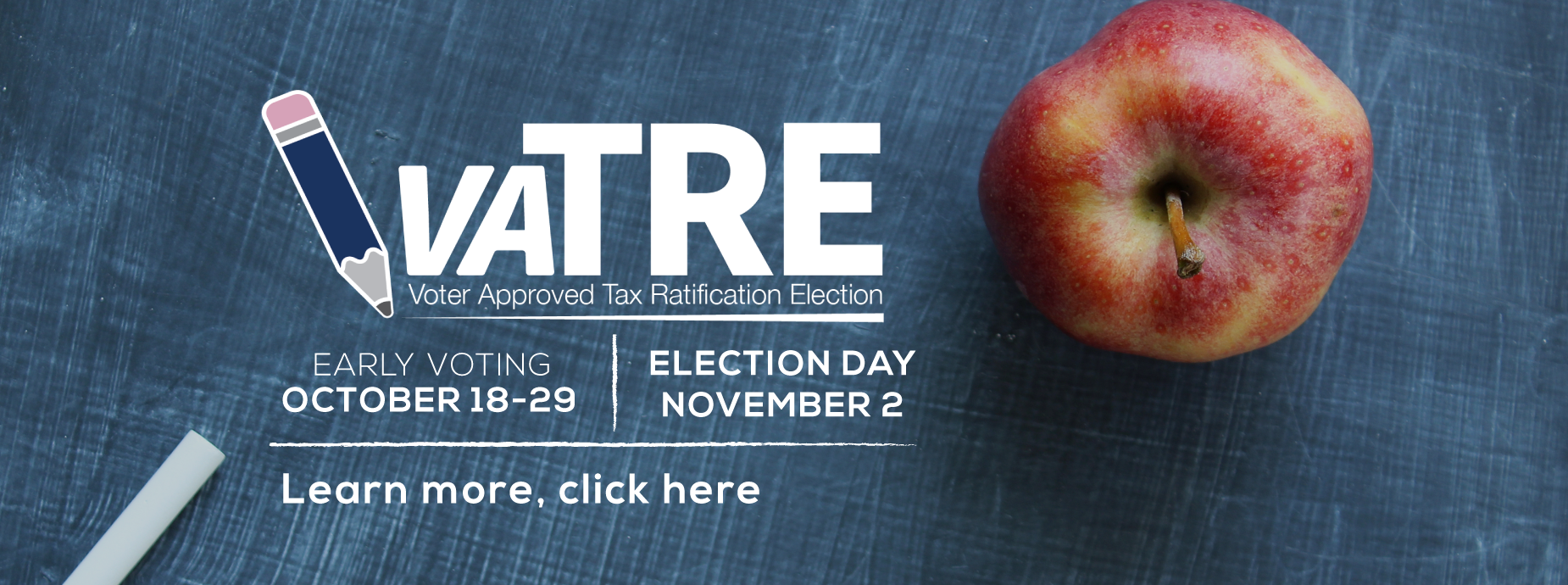 VATRE banner -Early Voting Oct. 21-29, Election Nov. 2