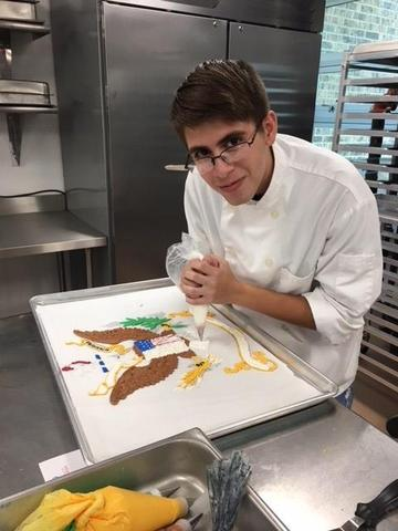Culinary Student Cake Decorating