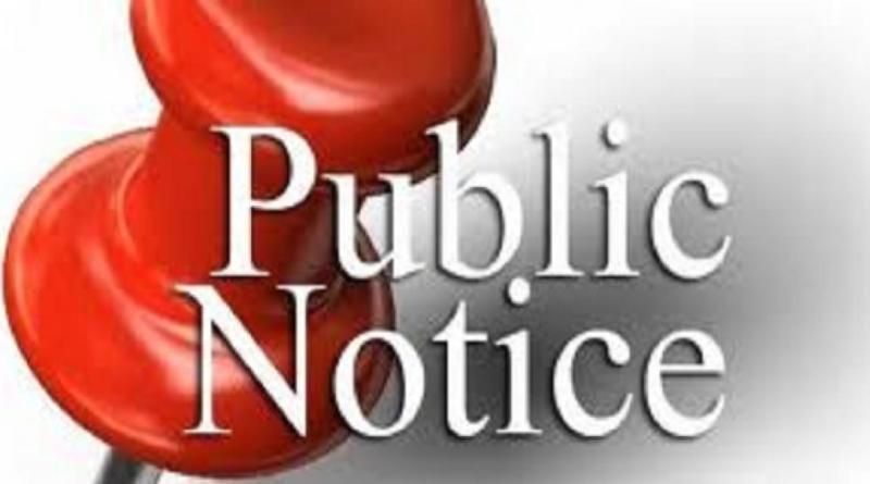 Public Notice Notice Of Public Hearings Board Of