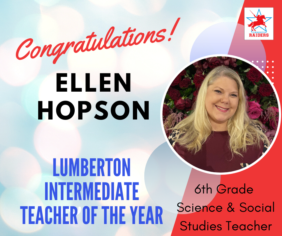 Ellen Hopson Teacher of the Year