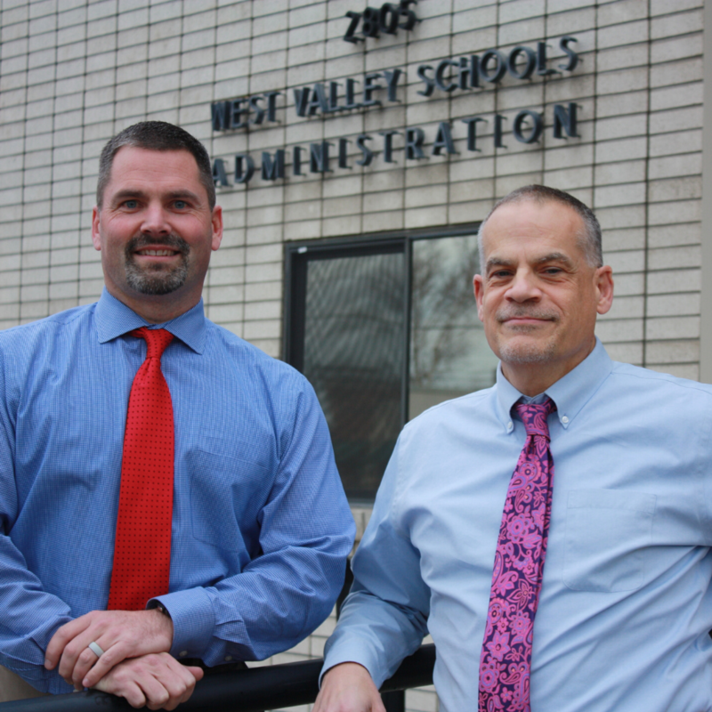 Dr. Sementi (right) and Kyle Rydell
