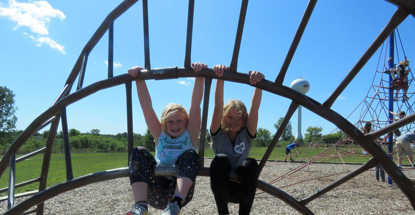 Page students have fun on the playground.