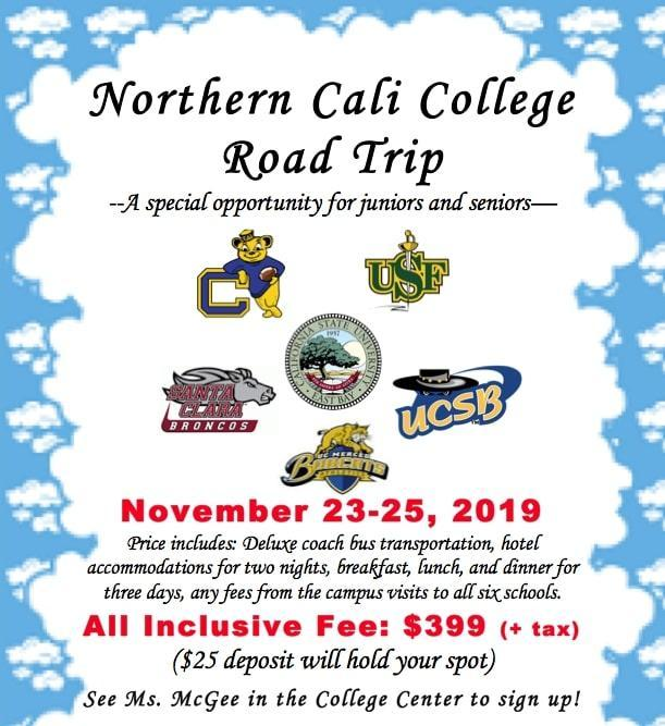 Northern Cali College Road Trip Featured Photo