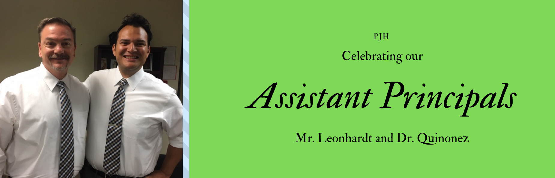 Celebrating our Assistant Principals
