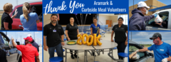 Thank you aramark and curbside volunteers