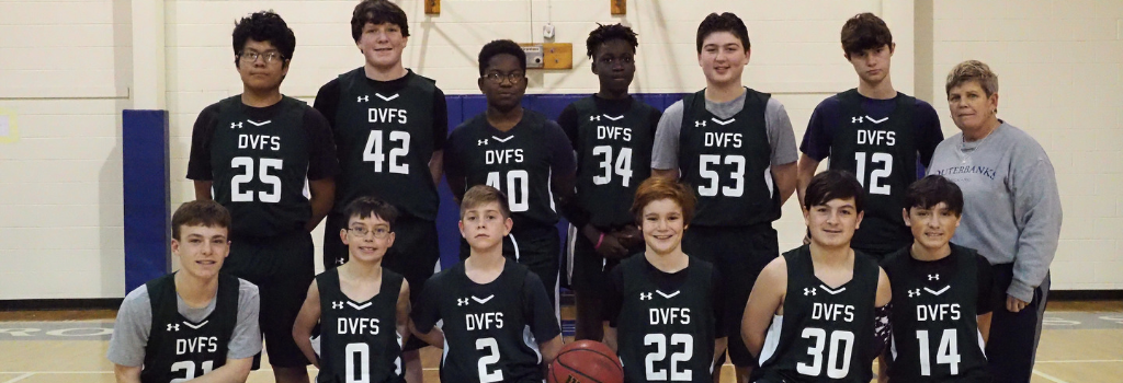 DVFriends Middle School Boys Basketball Team 2019-20