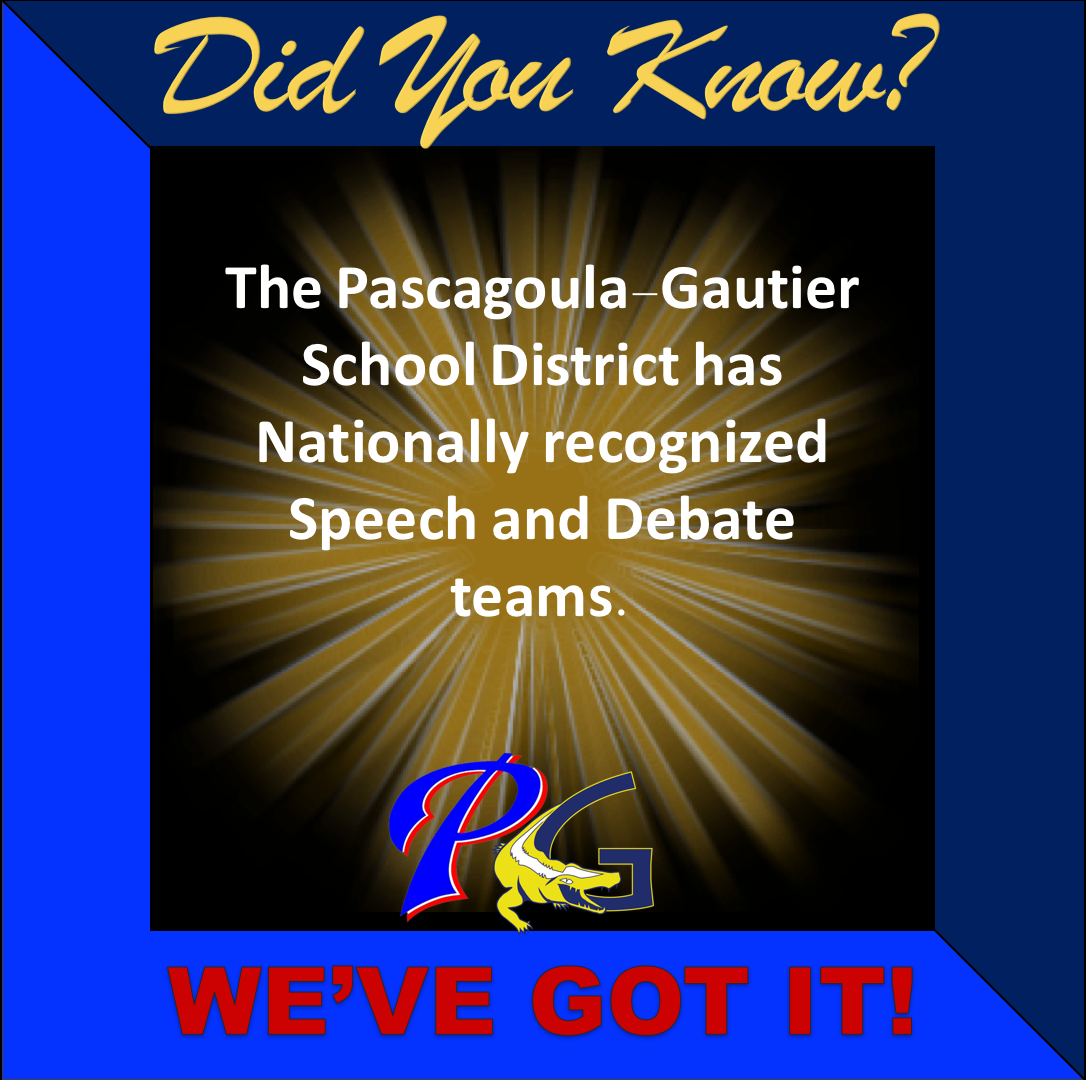 Did you know PGSD has Nationally recognized Speech and Debate teams.