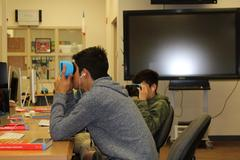 Students using VR Viewers