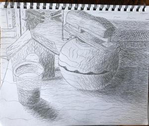 Textured Value Drawing 9