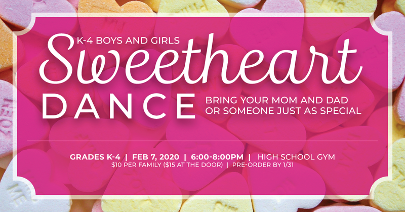 Sweetheart Dance - Friday, February 7th! Featured Photo