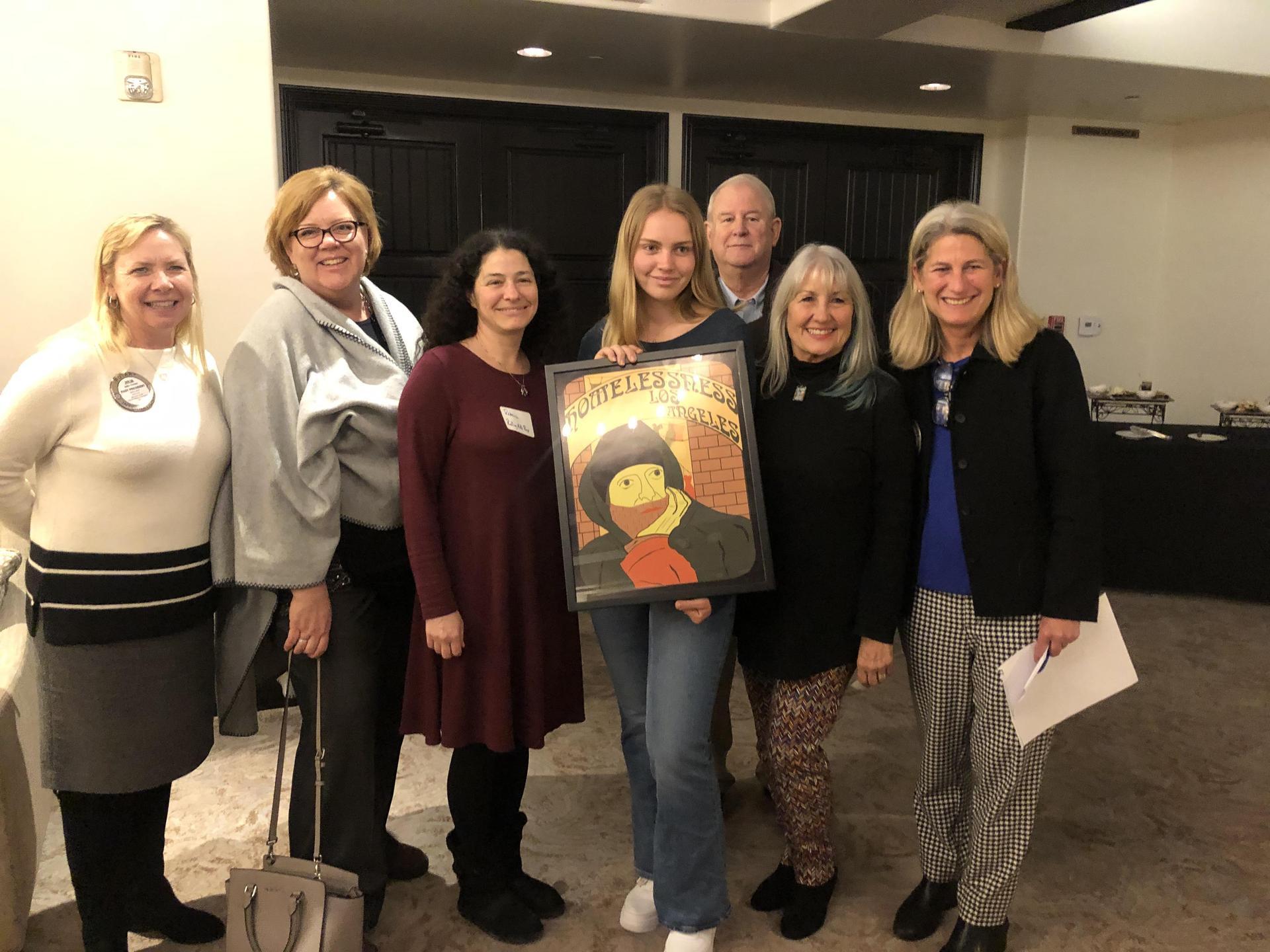 Teel S. winning Art Award