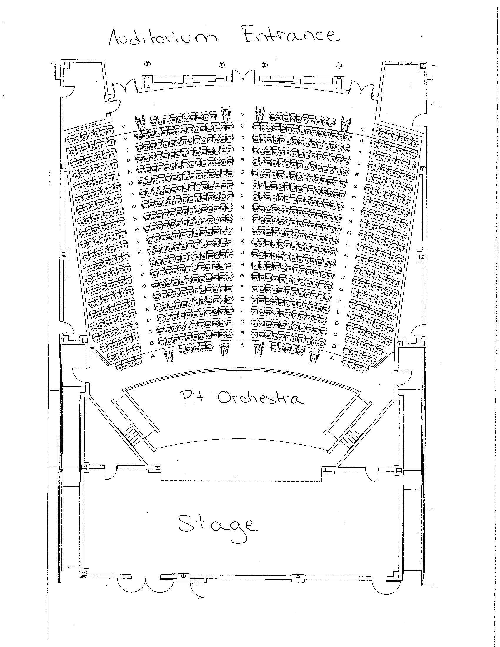 High School Auditorium Map