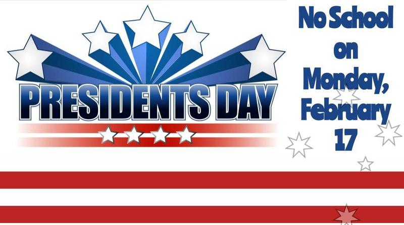 No School Monday, Feb. 17th in honor of Presidents Day Featured Photo
