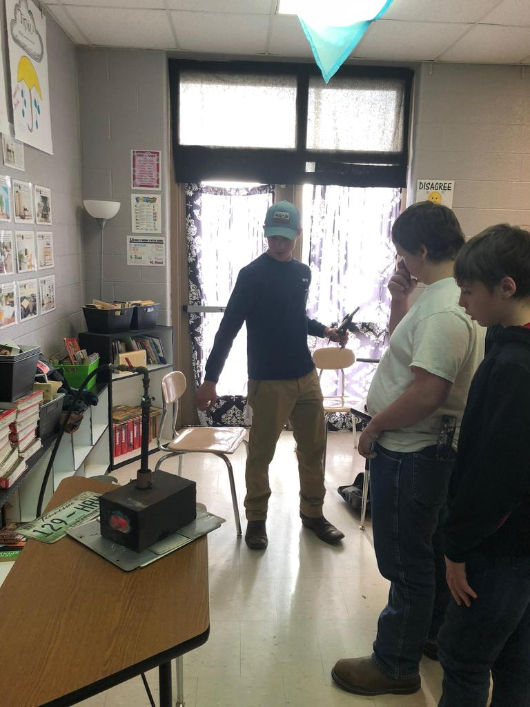 CMS students learn about metal forging